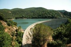 Hydro-elektrische dam Stock Foto