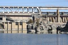 Hydro-elektrische Dam stock foto's