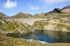 Hydro-elektrische dam van Naret op Maggia-vallei Stock Fotografie