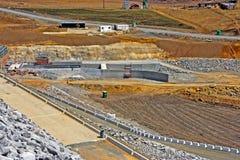 Hydro-elektrische dambouwwerf stock fotografie