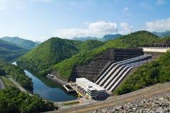 Hydro-elektrische elektrische centrale stock foto