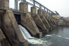 Hydro-elektrische elektrische centrale Stock Foto's