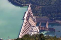 Hydro-elektrische elektrische centrale stock afbeeldingen