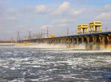 Hydro-elektrische elektrische centrale Royalty-vrije Stock Afbeelding