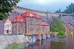 Hydro-elektrische elektrische centrale, Bobr-het Park van het Valleilandschap, Polen Stock Afbeelding