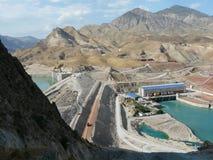 Hydro-elektrische elektrische centrale in ???????? Tadzjikistan Stock Afbeelding