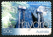 Hydro Energy Australian Postage Stamp Royalty Free Stock Images