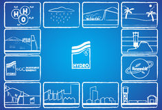 Hydro energy Royalty Free Stock Images