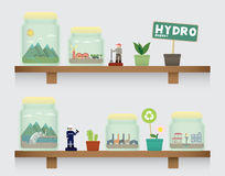 Hydro energy in jar Royalty Free Stock Photography