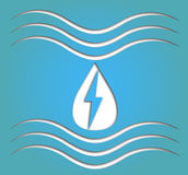 Hydro energy symbol Royalty Free Stock Image