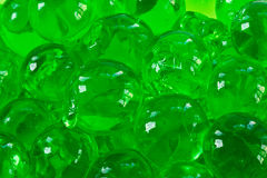 Hydro gel. Green hydro gel substitute for soil in close-up Stock Photo