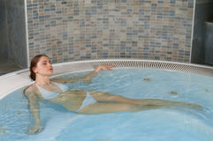 Hydro massage in jacuzzi Stock Photography