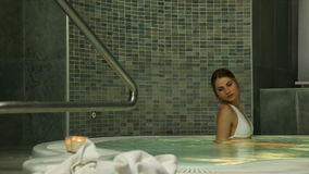 Hydro massage in jacuzzi stock video footage