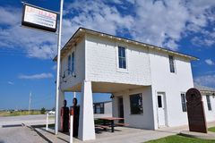 Lucille`s Service Station on Route 66, Oklahoma. Royalty Free Stock Photography