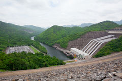 Hydro Power. Electric Dam in Thailand Royalty Free Stock Photos