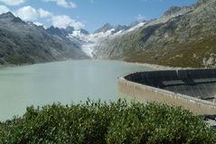Hydro power industry at lake Oberaare Royalty Free Stock Photography