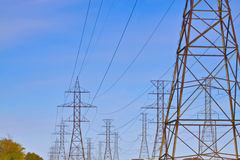 Hydro power lines. Photo of the hydro power lines Royalty Free Stock Image