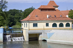Hydro power plant. Old small hydro power plant in Poland Royalty Free Stock Photo