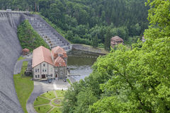 Hydro power plant. Old hydro power plant in Poland Stock Image