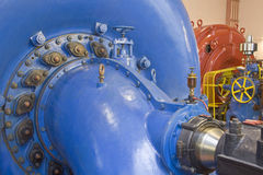 Hydro power plant. Old hydro power plant indoor Stock Photography