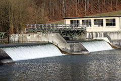 Hydro power plant. On the Rhine river Royalty Free Stock Photo