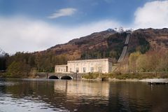 Hydro power station. A hydro electric power station at Loch Lomond, Scotland royalty free stock photo