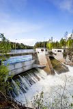 Hydro Power Station. A hydro electric plant on a river Stock Photos