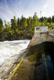 Hydro Power Station. A hydro electric plant on a river Royalty Free Stock Photography