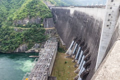 Hydro power station dam Stock Photography