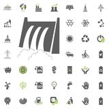 Hydro Power station icon. Eco and Alternative Energy vector icon set. Energy source electricity power resource set vector. Hydro Power station icon. Eco and Royalty Free Stock Images