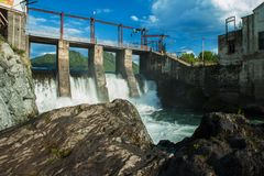 Hydro power station. Old Hydro power station in Chemal, Altai,Siberia, Russia. A popular tourist place Stock Photography