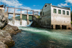 Hydro power station. Old Hydro power station in Chemal, Altai,Siberia, Russia. A popular tourist place Royalty Free Stock Photos