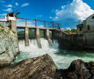 Hydro power station. Old Hydro power station in Chemal, Altai,Siberia, Russia. A popular tourist place Royalty Free Stock Photography