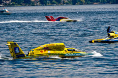 Hydro Races Seafair Seattle. Unlimted Hydro Race boats on Lake Washington Seafair Sunday in Seattle WA Stock Images
