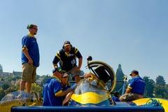 Hydro racing boat crew Stock Photos