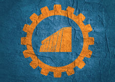 Hydro station icon in gear. Royalty Free Stock Photo