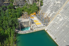 Hydro stroompost Royalty-vrije Stock Afbeeldingen