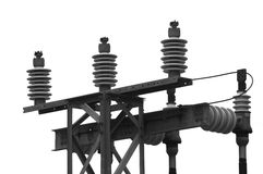 Hydro substation detail. Detail of a power substation stock image