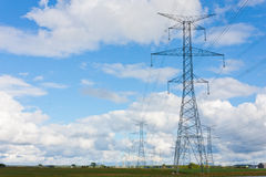 Hydro towers in Bruce County Stock Image