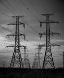 Hydro Towers Royalty Free Stock Photography