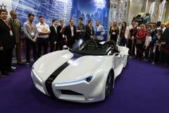 Hydrocar Premiera - первый польский водопод-автомобиль стоковое фото rf