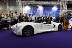 Hydrocar Premiera - den första polska väte-bilen Royaltyfri Foto