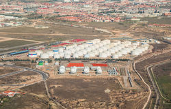 Hydrocarbon storage Stock Photos