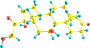 Hydrocortisone μοριακή δομή Στοκ φωτογραφία με δικαίωμα ελεύθερης χρήσης