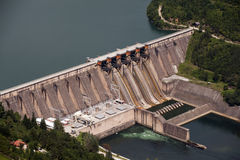 Hydrodam in Servië Royalty-vrije Stock Afbeelding
