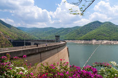 Hydroelectric dam. With blue sky Stock Image