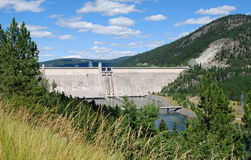 Hydroelectric Dam. Libby dam in the Montana sun Royalty Free Stock Photography