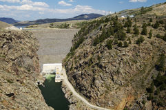 Hydroelectric Dam. And electric generating station on the Gunnison River in Colorado Royalty Free Stock Photo