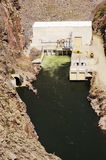 Hydroelectric Dam. And electric generating station on the Gunnison River in Colorado Stock Image