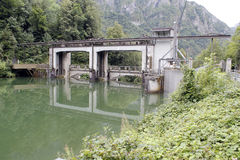 Hydroelectric dam Royalty Free Stock Image